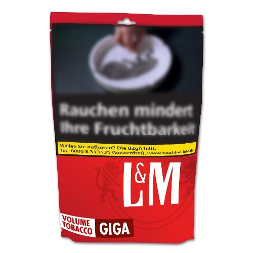 Zigarettentabak Lm Red Volumen Giga Beutel 180 Gramm Zigaretten
